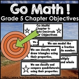 Go Math Fifth Grade Chapter Objectives