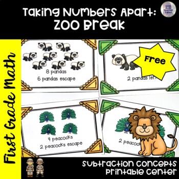 Go Math! First Grade Centers Chapter 2: Zoo Break
