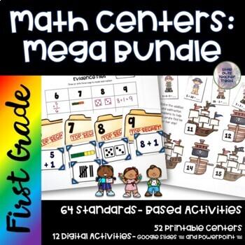 Go Math! First Grade Centers GROWING BUNDLE!