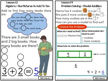 Go Math! First Grade Chapter 1 Addition Concepts Strategies Book
