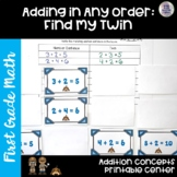 First Grade Math Center   Addition Concepts   Adding in Any Order