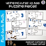 Go Math! First Grade Chapter 1 Center: Puzzling Pieces
