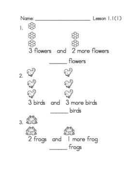 Go Math First Grade Chapter 1 Supplemental Pack