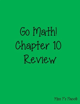 Go Math! First Grade Chapter 10 Review