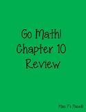 Go Math! First Grade Chapter 10 Review
