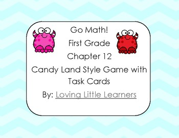 Go Math! First Grade Chapter 12: 2D Shapes Candy Land Style Self Checking Game