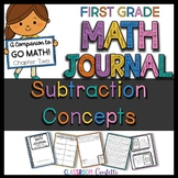 First Grade Subtraction Concepts Math Journal (Go Math Chapter 2)