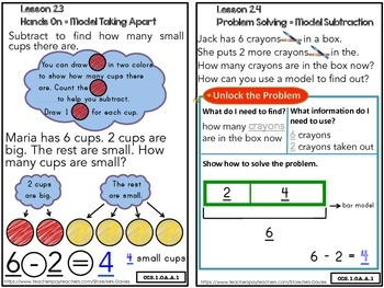 Go Math! First Grade Chapter 2 Subtraction Concepts