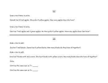 Go Math! First Grade Chapter 3- Addition Strategies Challenge Work