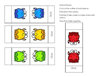 Go Math! First Grade Chapter 4 Counting Back Self-Checking & Differentiated Game