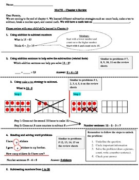 Go Math! First Grade Chapter 4 Review and Homework by ...