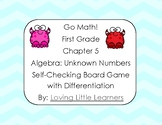 Go Math! First Grade Chapter 5 Unknown Numbers Self Checki