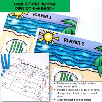 Go Math! First Grade Chapter 6 Center: Eggs on the Beach