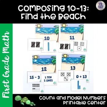 Go Math! First Grade Chapter 6 Center: Find the Beach