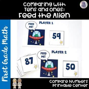 Go Math! First Grade Chapter 7 Center: Feed the Alien