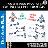 Go Math! Chapter 7 Greater Than and Less Than Center for First Grade