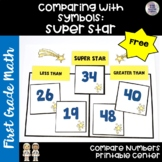 Go Math! Chapter 7 Free Comparing Numbers Center for First Grade