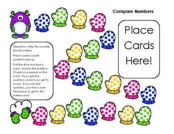Go Math! First Grade Chapter 7 Compare Numbers Self Checking Differentiated Game