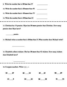 Go Math! First Grade Chapter 7 Review