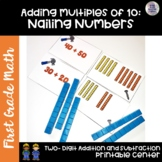 Go Math! First Grade Chapter 8 Center: Nailing Numbers