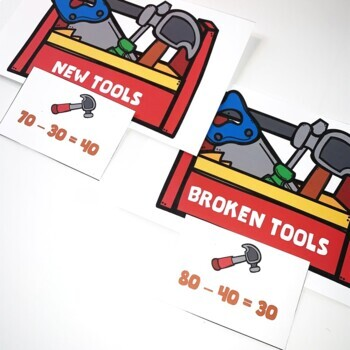 Go Math! First Grade Chapter 8 FREEBIE: New Tools, Broken Tools