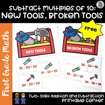 Go Math! First Grade Chapter 8 FREEBIE: New Tools, Broken Tools