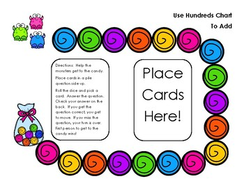 Go Math! First Grade Chapter 8 Use the Hundreds Chart to Add Differentiated Game