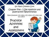 Go Math First Grade Chapter Five Activities