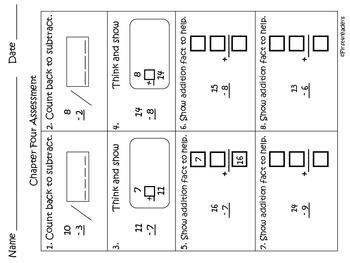 Go Math First Grade Chapter Four Activities
