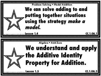 Go Math First Grade Chapter Objectives Bundle