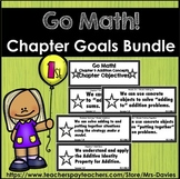 Go Math First Grade Chapter Objectives Bundle