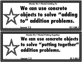 Go Math First Grade Chapter Objectives