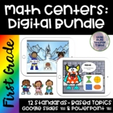 Go Math | First Grade Digital Math Centers BUNDLE | Google