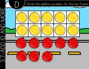 Go Math First Grade Digital Task Cards- Addition Strategies