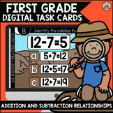 Go Math First Grade Digital Task Cards- Addition and Subtr