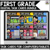 Go Math First Grade Digital Task Cards Bundle