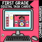 Go Math First Grade Digital Task Cards- Compare Numbers