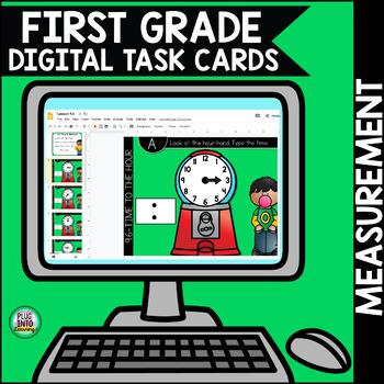 Go Math First Grade Digital Task Cards- Measurement