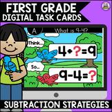 Go Math First Grade Digital Task Cards- Subtraction Strategies