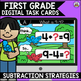 Go Math First Grade Digital Task Cards- Subtraction Strategies