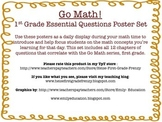 Go Math! {First Grade Essential Questions Poster Set}