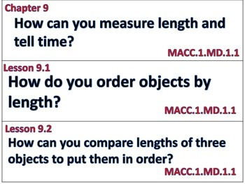Go Math First Grade Essential Questions for Lessons and Vocab Chapters 9-10