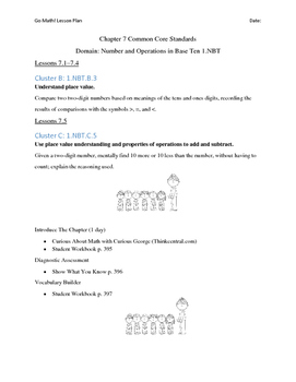 Go Math - First Grade Lesson Plans - Chapter 7