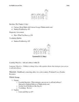 Go Math - First Grade Lesson Plans - Chapter 8