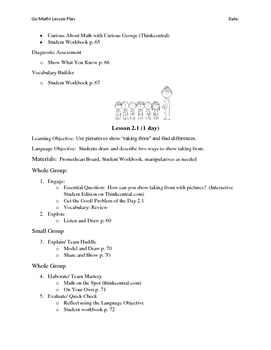Go Math - First Grade Lesson Plans - Chapter 2