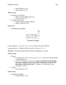 Go Math - First Grade Lesson Plans - Chapter 3