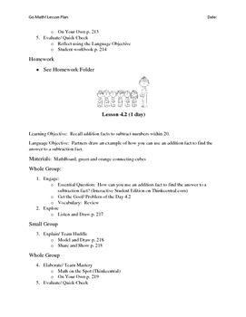Go Math - First Grade Lesson Plans - Chapter 4