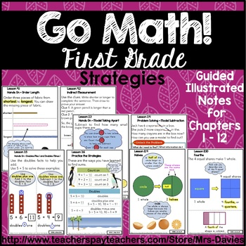 Go Math! First Grade Strategies Reference Book Bundle