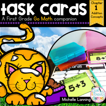 Go Math-First Grade Task Cards, Addition Concepts, Chapter 1