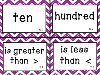Go Math! First Grade Vocabulary Cards Chapters 1-12